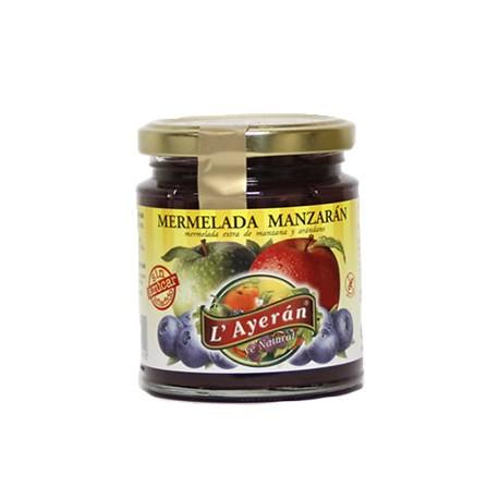 Mermelada Manzarán SIN Azúcar manzana y arándano